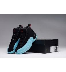 Air Jordan 12 Shoes 2015 Mens Black Blue