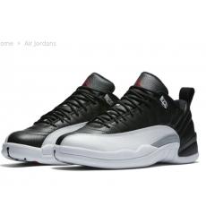 Air Jordans 12 Retro Playoffs Black White Restock Low Cut