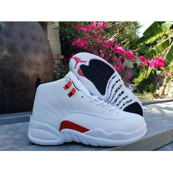 Men Jordan 12 MO Red White Shoes