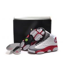 Air Jordan 13 Shoes 2015 Mens White Red Gray
