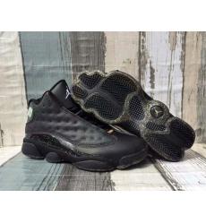Men Jordan 13 Black Gold Shoes