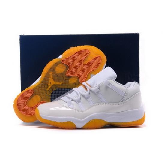 Air Jordan 11 Shoes 2015 Mens Low White Brown