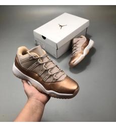 Men Air Jordan 11 Retro Men Shoes Rose Gold