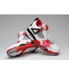 Air Jordan 4 Men Shoes White Red Black