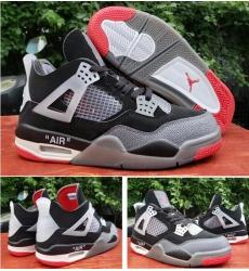 Air Jordan 4 OFF-WHITE X Men 2020 Shoes