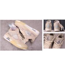 Air Jordan 4 Retro OFF-WHITE X Men Shoes