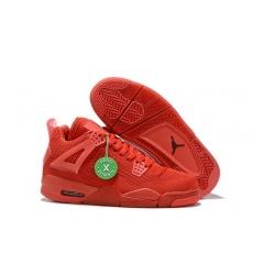 Air Jordan 4 Retro Weaving Red Men Shoes