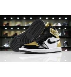 Air Jordan 1 Retro High OG Women Shoes Black Gold