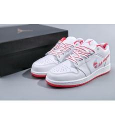 Air Jordan 1 Retro White Light Red Women Shoes