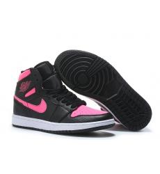 Air Jordan 1 Women Shoes Black Pink