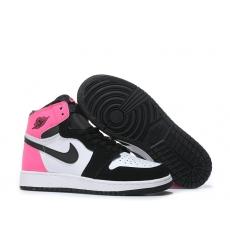 Air Jordan 1 Women Shoes Black White Pink