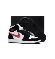 Air Jordan 1 Women Shoes Black White Red