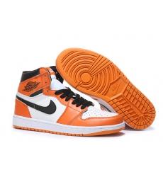 Air Jordan 1 Women Shoes Orange White Black
