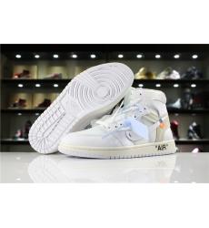Off White Air Jordan 1 Women Shoes White