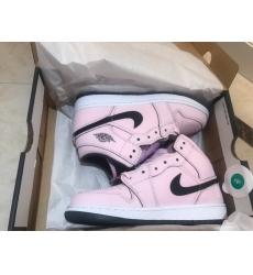 Women Air Jordan 1 GS Pink Skora Basketball Shoes
