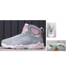Air Jordan 7 Retro Women Shoes Gray Pink Rabbit