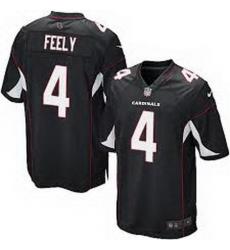 Men Nike Cardinals 4 Jay Feely Black Game Jersey