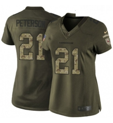 Womens Nike Arizona Cardinals 21 Patrick Peterson Elite Green Salute to Service NFL Jersey