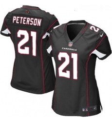 Womens Nike Arizona Cardinals 21 Patrick Peterson Game Black Alternate NFL Jersey
