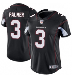 Womens Nike Arizona Cardinals 3 Carson Palmer Black Alternate Vapor Untouchable Limited Player NFL Jersey