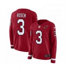 Womens Nike Arizona Cardinals 3 Josh Rosen Limited Red Therma Long Sleeve NFL Jersey