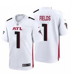 Women Atlanta Falcons #1 Justin Fields White 2021 Draft Jersey