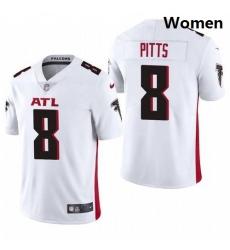 Women Atlanta Falcons #8 Kyle Pitts White 2021 Draft Jersey