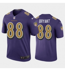 Men Baltimore Ravens Dez Bryant Purple Gold Rush Jersey