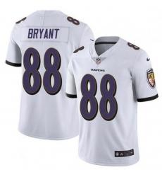 Men Baltimore Ravens Dez Bryant White Vapor Untouchable Limited Jersey