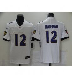Men's Baltimore Ravens #12 Rashod Bateman Nike White 2021 NFL Draft First Round Pick Leopard Jersey
