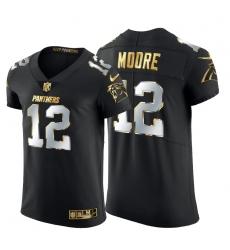 Carolina Panthers 12 DJ Moore Men Nike Black Edition Vapor Untouchable Elite NFL Jersey
