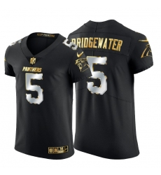 Carolina Panthers 5 Teddy Bridgewater Men Nike Black Edition Vapor Untouchable Elite NFL Jersey