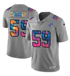 Carolina Panthers 59 Luke Kuechly Men Nike Multi Color 2020 NFL Crucial Catch NFL Jersey Greyheather
