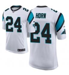 Men Carolina Panthers 24 Jaycee Horn 2021 NFL Draft Classic Limited Jersey   White