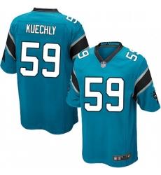 Mens Nike Carolina Panthers 59 Luke Kuechly Game Blue Alternate NFL Jersey