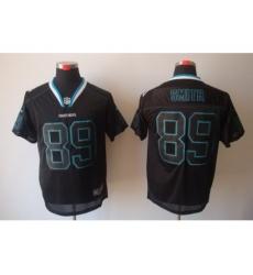 Nike Carolina Panthers 89 Steve Smith Black Elite Lights Out NFL Jersey
