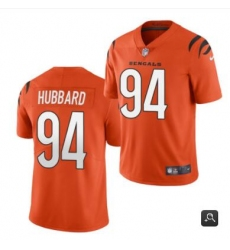 Men Cincinnati Bengals #94 Sam Hubbard 2021 Orange Vapor Untouchable Limited Stitched NFL Jersey