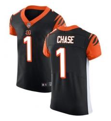 Nike Cincinnati Bengals 1 Ja 27Marr Chase Black Team Color Men Stitched NFL Vapor Untouchable Elite Jersey