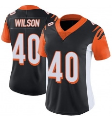Women Nike Cincinnati Bengals 40 Brandon Wilson Black Jersey