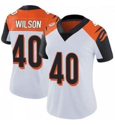 Women Nike Cincinnati Bengals 40 Brandon Wilson White Jersey