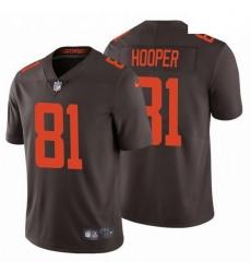 Men Cleveland Browns 81 Austin Hooper 2020 NFL Stitched Alternate Vapor Limited Brown Nike Jersey