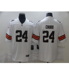 Men Nike Cleveland Browns 24 Nick Chubb White 2020 New Vapor Untouchable Limited Jersey