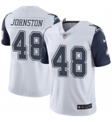 Men Dallas Cowboys Daryl Johnston 84 Nike Rush Limited Jersey