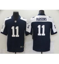 Men Dallas Cowboys Micah Parsons 11 Blue Thanksgivens Vapor Limited NFL Jersey
