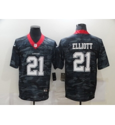 Nike Dallas Cowboys 21 Ezekiel Elliott Black Camo Limited Jersey