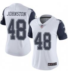 Women Dallas Cowboys Daryl Johnston 84 Nike Rush Limited Jersey