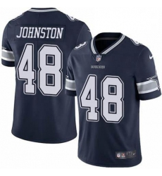 Youth Dallas Cowboys Daryl Johnston 84 Nike Vapor Navy Blue Limited Jersey