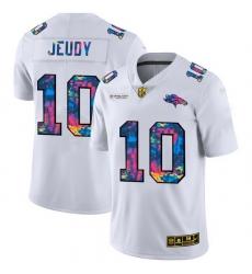Denver Broncos 10 Jerry Jeudy Men White Nike Multi Color 2020 NFL Crucial Catch Limited NFL Jersey
