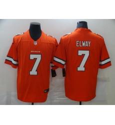 Men Nike Denver Broncos John Elway 7 Orange Rush Vapor Untouchable NFL Jersey