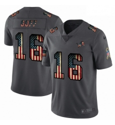 Men Detroit Lions 16 Jared Goff 2018 Salute To Service Retro USA Flag Limited NFL Jersey